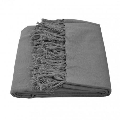 Narzuta na łóżko Kira ciemno-szara 200x220