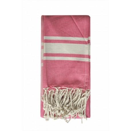 Fouta ręcznik narzuta obrus różowy