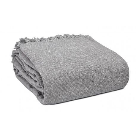 Narzuta na łóżko melanż Lena 200x220cm szara kapa