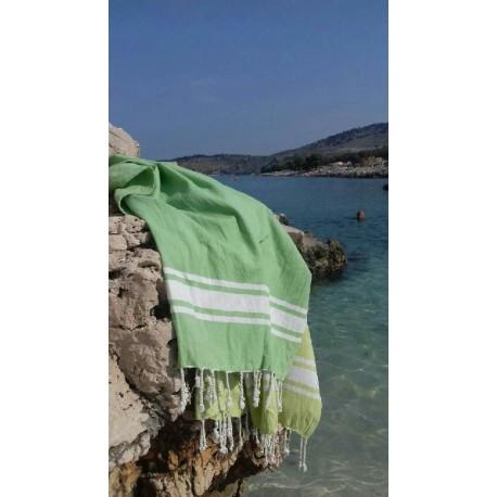 Fouta ręcznik narzuta obrus zielony