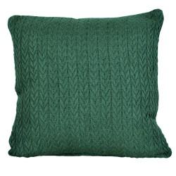 Modna poszewka na poduszkę Greta 45x45 butelkowa zieleń