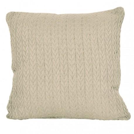 Duża, bawełniana poszewka na poduszkę Greta 45x45 warkocz beżowa