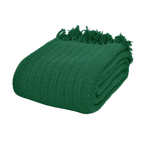 Narzuta na łóżko Greta 200x220 - butelkowa zieleń