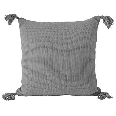 Poszewka na poduszkę z chwostami Olga 40x40 jasiek szara