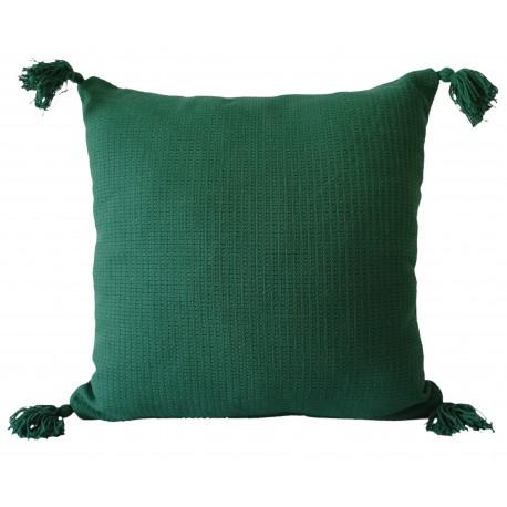 Poszewka na poduszkę z chwostami Olga 40x40 jasiek butelkowa zieleń