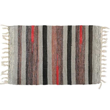 Bawełniany chodnik 50x80 Aztec dywanik wycieraczka - odcienie szarości
