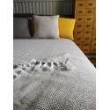 Bawełniana narzuta na łóżko Klara 200x220 - beżowo biała