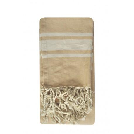 Fouta ręcznik narzuta obrus beż