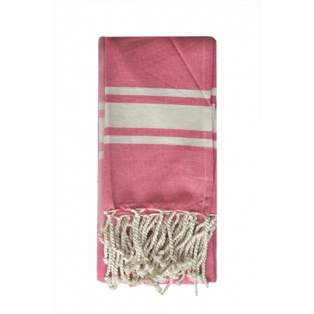 Fouta ręcznik narzuta różowy